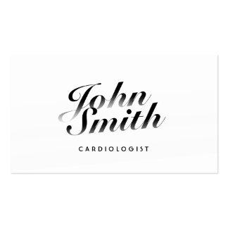 Carte de visite calligraphique chic de cardiologue
