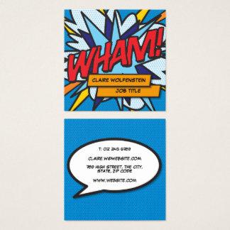 Carte De Visite Carré Bande dessinée personnalisée d'art de bruit VLAN !