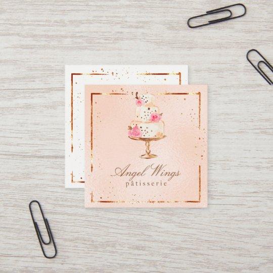 Carte De Visite Carre Beaux Patisserie Boulangerie Gateaux Et Bonbons
