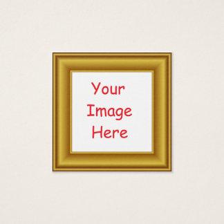 Carte De Visite Carré Cadre d'image personnalisé par coutume et d'or