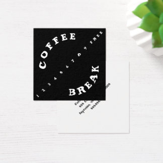 Carte De Visite Carré Café simple de fidélité de poinçon à angles de