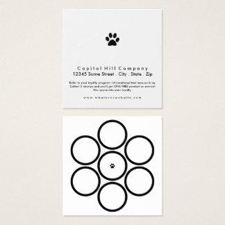 Carte De Visite Carré carré de patte d'animal familier de programme de