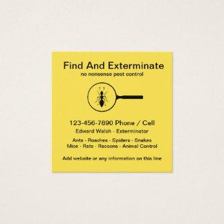 Carte De Visite Carré Conception simple d'exterminateur de lutte contre