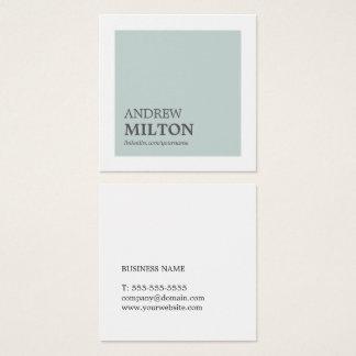 Carte De Visite Carré Conseiller blanc bleu élégant simple professionnel