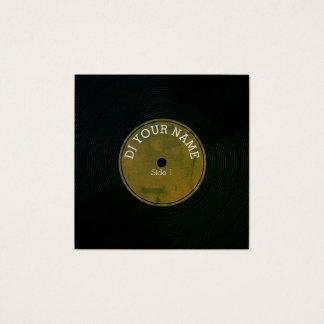 Carte De Visite Carré Couverture musicale de vinyle record de plat