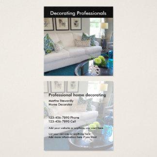 Carte De Visite Carré Décorateur à la maison et Businesscards de