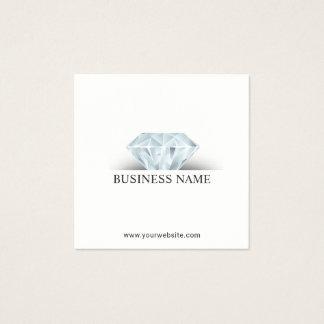 Carte De Visite Carré Diamant élégant de conception de bijoux