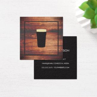 Carte De Visite Carré Élément rustique de carré en bois