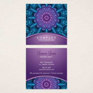 Carte De Visite Carré Fleur pourpre spirituelle, mer de bleu