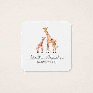 Carte De Visite Carré Girafe