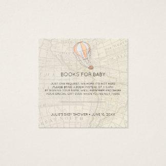 Carte De Visite Carré Insertion chaude de baby shower de ballon à air de