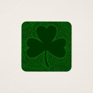 Carte De Visite Carré Le jour de St Patrick de shamrock