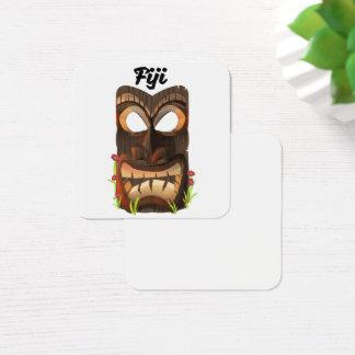 Carte De Visite Carré Les Fidji ont découpé le masque