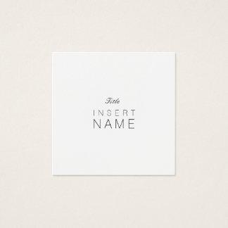 Carte De Visite Carré Noir et Blanc simples minimalistes professionnels