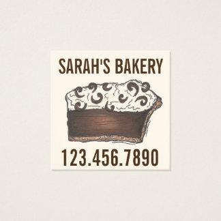 Carte De Visite Carré Nourriture de boulangerie de chef de pâtisserie de
