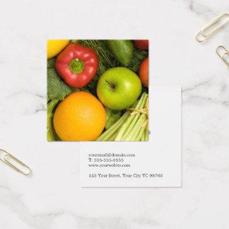 Carte De Visite Carré Nutritionniste coloré élégant simple de légumes