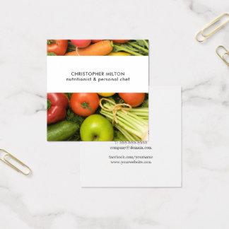 Carte De Visite Carré Nutritionniste unique de légumes