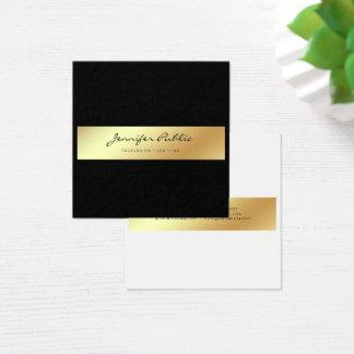 Carte De Visite Carré Or noir blanc élégant moderne professionnel chic