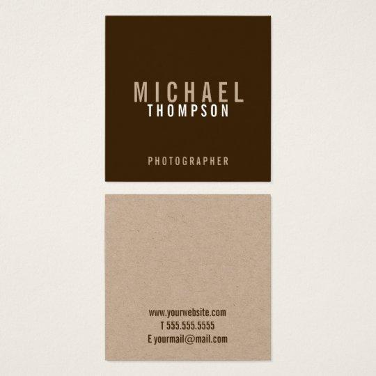 Carte De Visite Carré Papier d'emballage minimaliste professionnel
