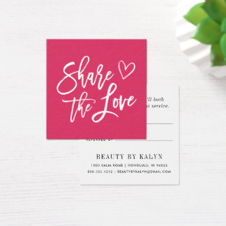 Carte De Visite Carré Partagez la référence de l'amour |