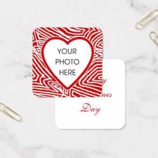 Carte De Visite Carré Photo de Valentines