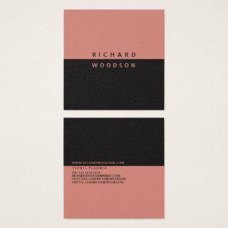 Carte De Visite Carré Professionnel moderne minimal élégant d'argile de