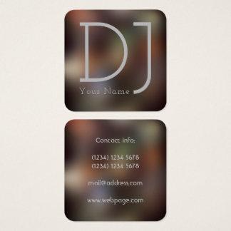 Carte De Visite Carré Style de clubbing de nuit du DJ