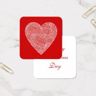 Carte De Visite Carré Valentines