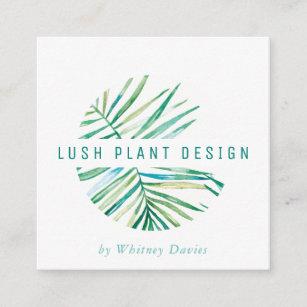 Carte De Visite Carr Vert Botanique Luxuriant La Vie LOGO EN