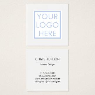 Carte De Visite Carré Votre image et logo personnalisé par texte