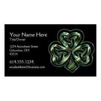 Carte de visite celtique d'Irlandais de la