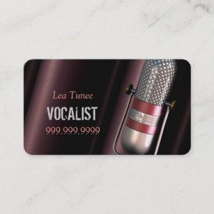 Carte De Visite Chanteur Interprete Musique Lecons