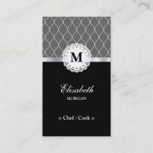 Cartes De Visite Chef Cuisinier