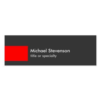 Carte de visite chic à la mode de rayure rouge carte de visite petit format