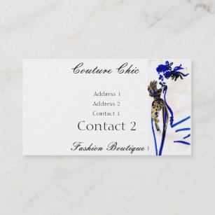 Carte De Visite Chic Couture