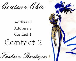 Carte De Visite Chic Couture