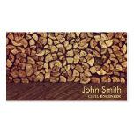 Carte de visite chic d'ingénieur civil de bois de