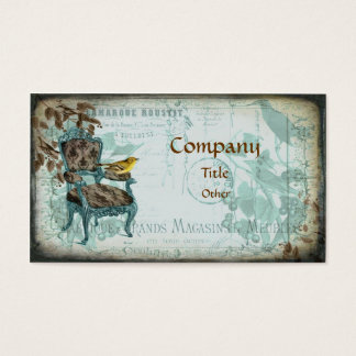 Carte de visite chic minable bleu