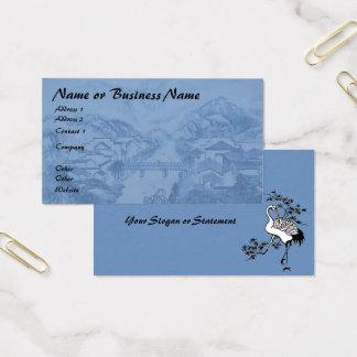 Carte de visite chinois de bleu de porcelaine