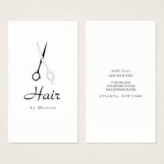 Carte de visite - ciseaux simplistes de coiffeur