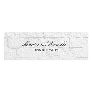Carte de visite clair maigre de brique de mur de carte de visite petit format