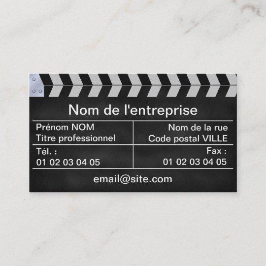 Carte De Visite Clap Cinema