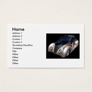 Carte de visite classique de voiture