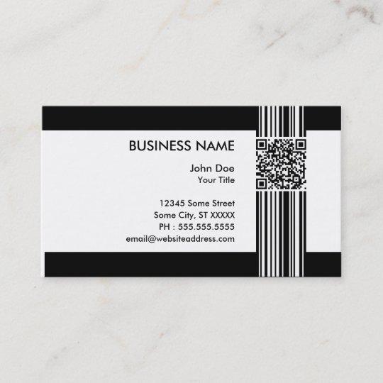 Carte De Visite Code Barres QR