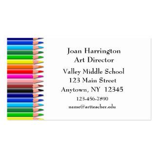 Carte de visite coloré de crayons