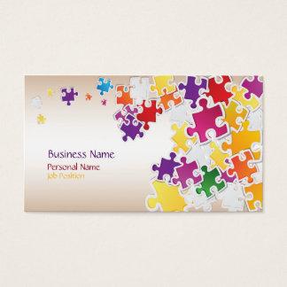 Carte de visite coloré de puzzle