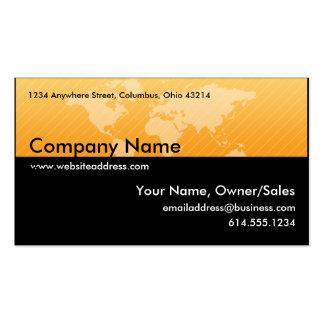 Carte de visite : : Conception 1 de carte d'Orange