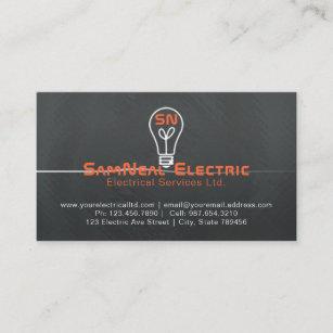 Carte De Visite Conception Logo Dampoule Delectricien