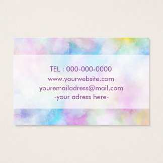 Carte de visite conçu simple pourpre de Colorfull