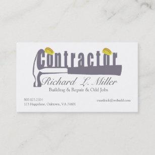 Carte De Visite Constructeur Dentrepreneur Construction